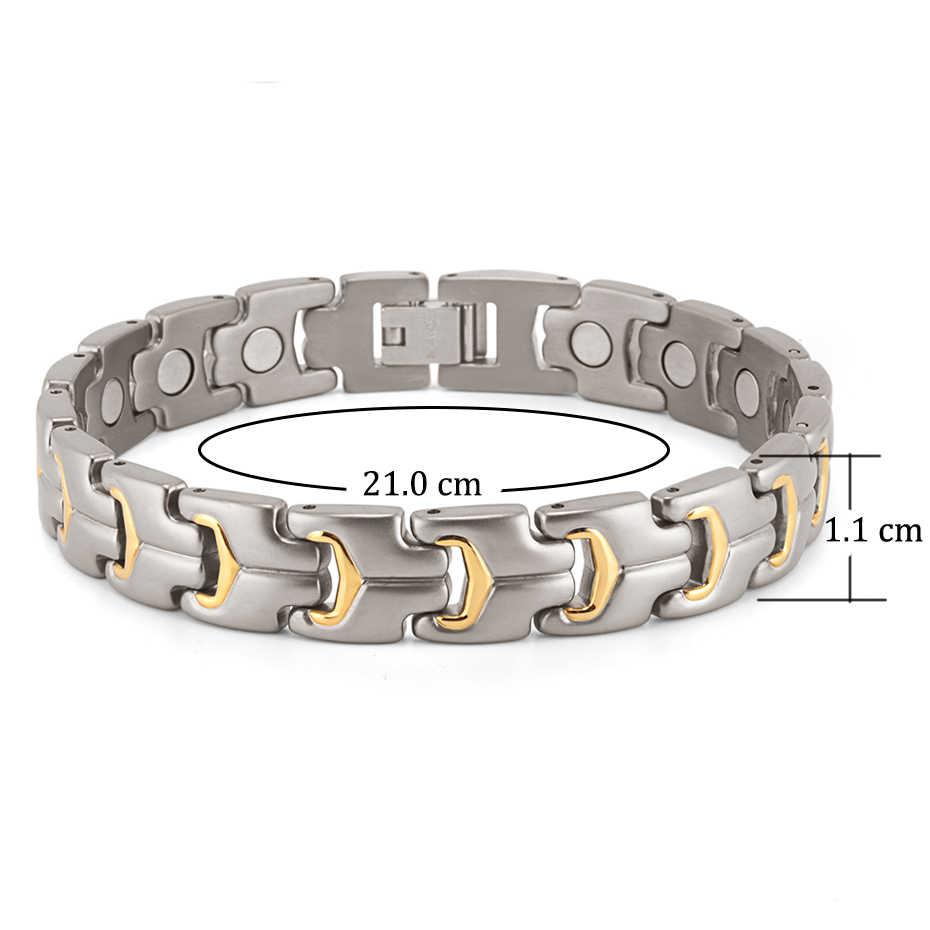 Rainso Для мужчин браслет ручной цепи Здоровье энергии магнитного браслет мужской Титан голограмма Браслеты для Для мужчин Jewelry OTB-738