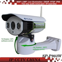 SunEyes SP-P903W Array LED 960P 1.3 Megapixel HD IP Camera Wireless Wifi Outdoor Pan/Tilt by Software with SD/TF Card Slot