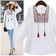 Women Blouses 2016 Autumn New Fashion Long Sleeve Blouse Women Shirt white as1546
