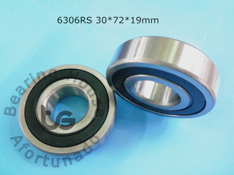 6306RS 1Piece bearing 30*72*19(mm) ABEC-5 rubber sealing type 6306 6306RS chrome steel deep groove bearing thrust bearing factory direct sale 6306 6306zz 6306z 6306 2z 80306 30 72 19 mm high quality deep groove ball bearing 2pcs lot