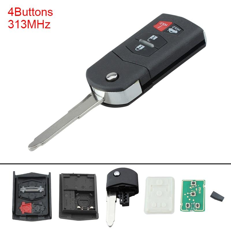 Mazda FE04-67-5RYB Remote Control Transmitter for Keyless Entry and Alarm System