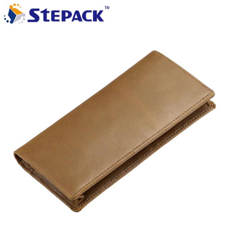 New Genuine Leather Men Wallet Famous Brand Crazy Horse Leather Clutch Bag Card Hold Coin Purse Long Wallet WMB0217 simline brand vintage genuine crazy horse leather cowhide men long trifold clutch wallet wallets purse card holder coin pocket