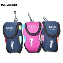 Mini Portable Small Golf Ball Bag Holder Pouch Golfer Waist Pack Golf Tool Holder Portable Bag Pouch Neoprene Golf Ball Bag