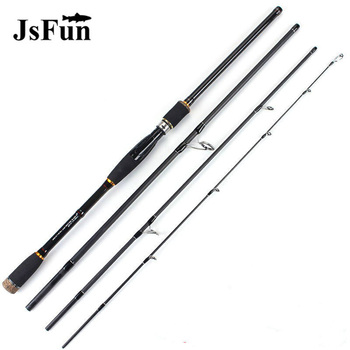 JSFUN Superhard Carbon Fiber Lure Fishing Rod 1.8-3.0m Ultralight SpinningCasting Fishing Rod 4 Section Fishing Pole FG1007