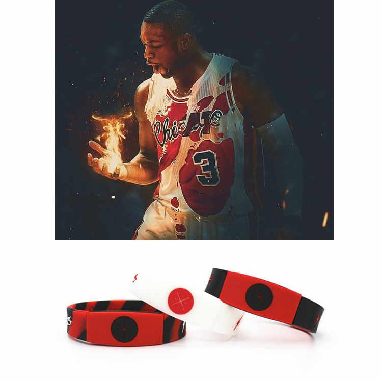 c42d72bc24c2 NBAStar Dwyane Wade Luminous Bracelet Sport Silicone Bracelets Basketball  Silicon Bileklik Cool Fashion Item Wristband