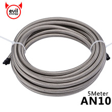 evil energy AN10 5Meter Stainless steel Oil PTFE Hose Gasoline Brake Line Cooler Racing Fuel