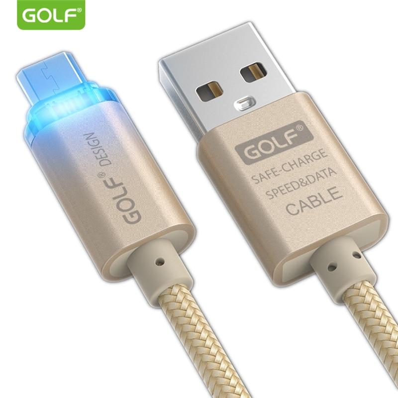 GOLF 1m Καλώδιο φόρτισης Smart LED Micro USB για - Ανταλλακτικά και αξεσουάρ κινητών τηλεφώνων - Φωτογραφία 2