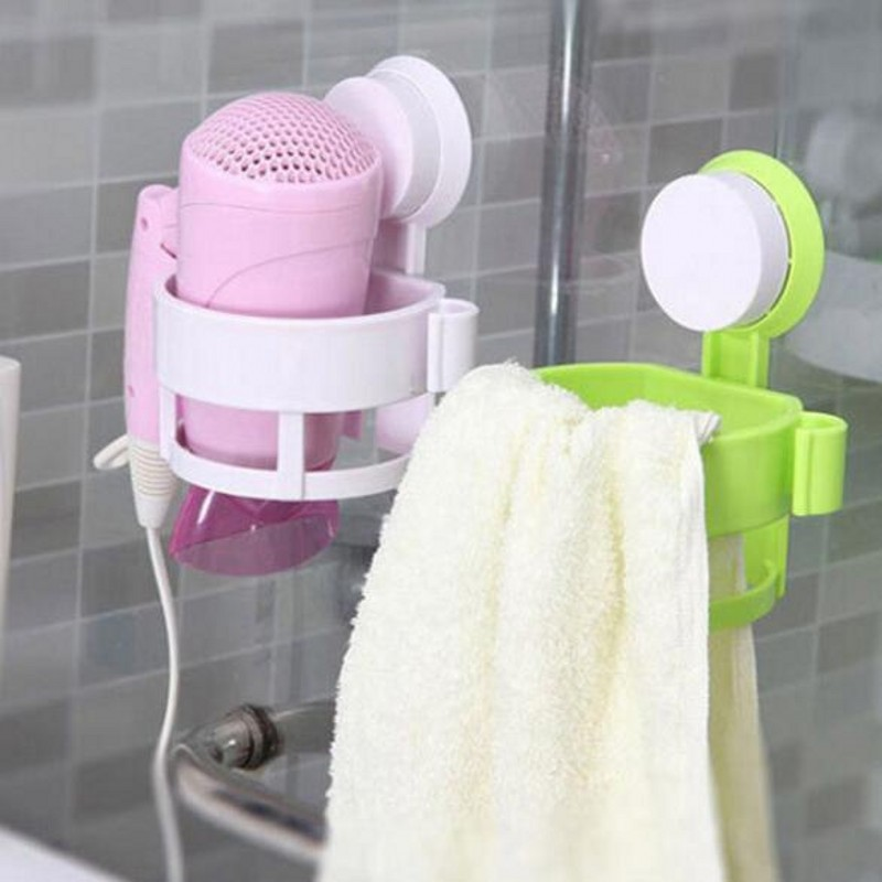 Creative Multifunction Portable Toilet Bathroom Racks Powerful Suction Hair Dryer Storage Compartment Dryer Rack Shelves EA307