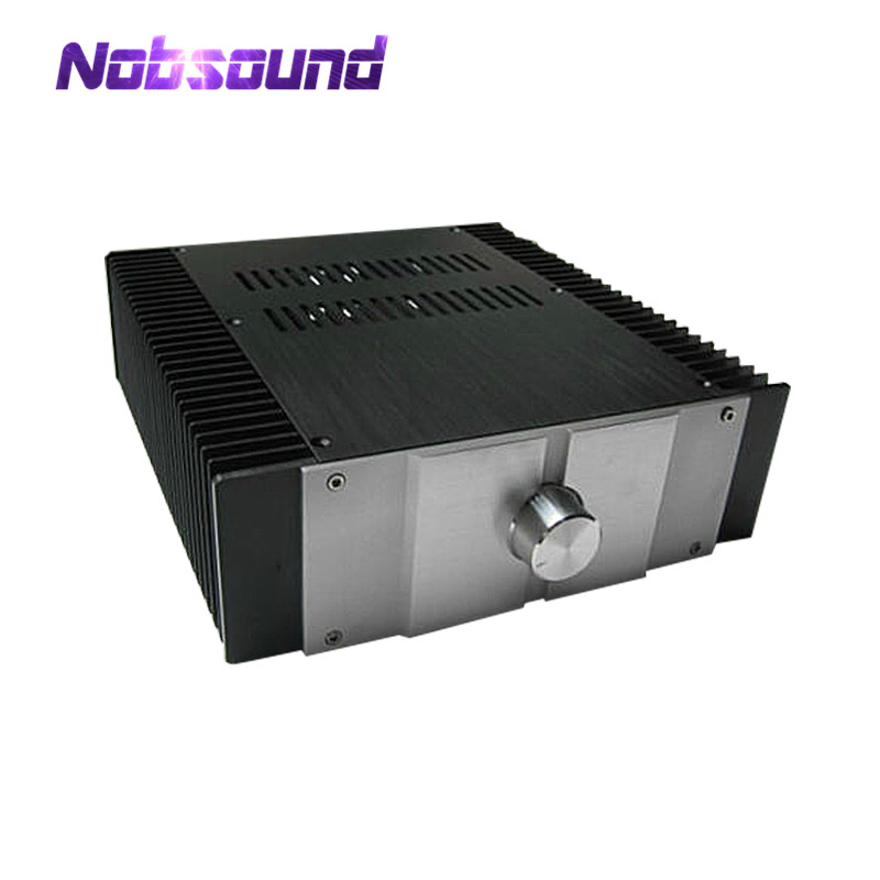 Nobsound Empty Aluminum Enclosure Power Amplifier Chassis DIY Case Cabinet with Radiator nobsound hi end audio noise power filter ac line conditioner power purifier universal sockets full aluminum chassis