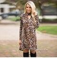 GZDL женская Мода Водолазка С Длинным Рукавом Leopard Осень Зима Dress Vestidos Bodycon Stretch Fit Sexy Мини-Платья CL3398