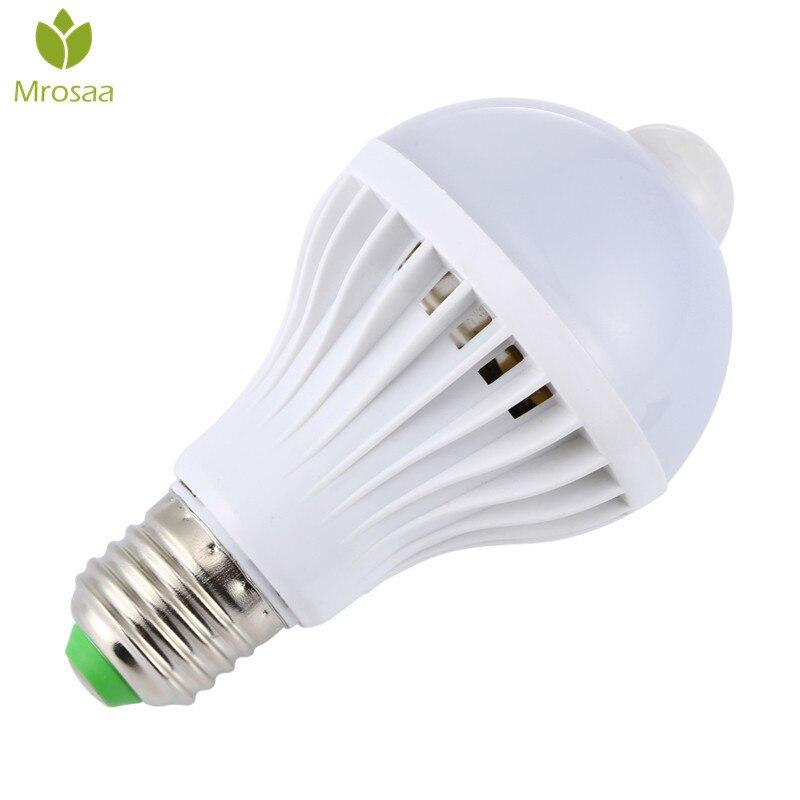 Mrosaa Night Light Bulbs E27 5W 7W 9W LED PIR Motion Sensor