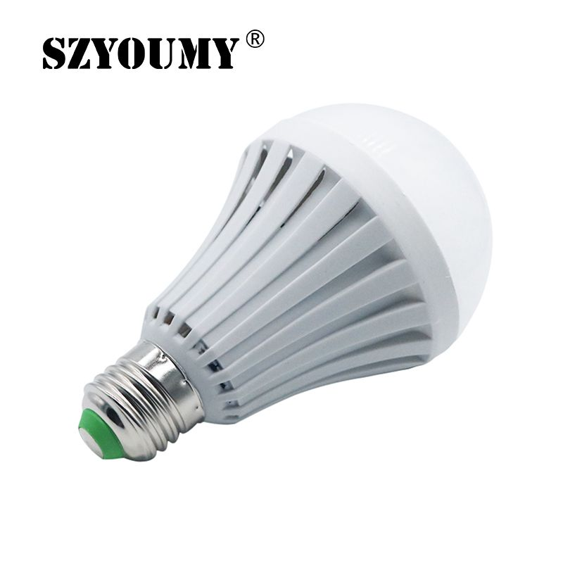 SZYOUMY AC85-265V E27 B22 5W 7W 9W 12W 15W LED Smart Emergency Light Led Bulb Rechargeable Lighting Lamp Intelligent Magical smart bulb e27 7w led bulb energy saving lamp color changeable smart bulb led lighting for iphone android home bedroom lighitng