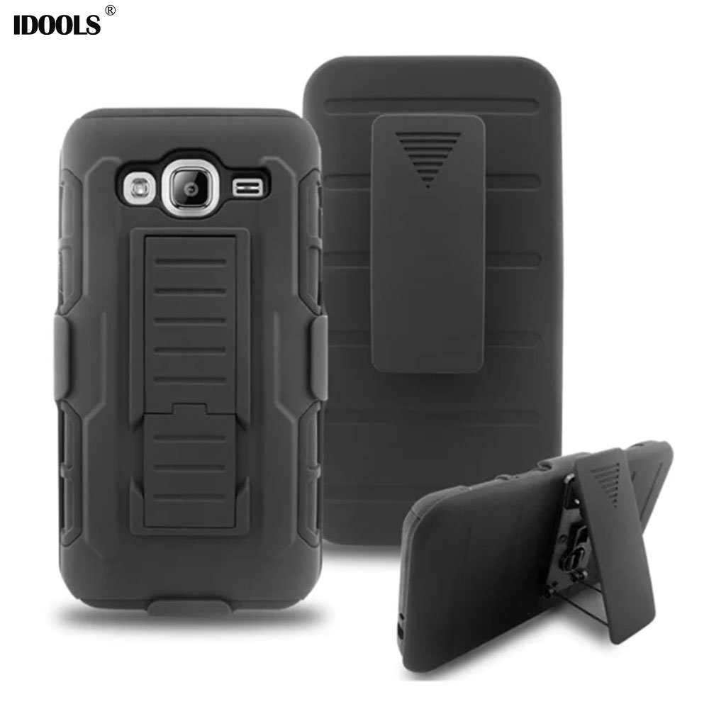 Galleria fotografica For Samsung Galaxy J3 2016 Case Cover Hybrid Armor Hard Plastic Mobile Phone Cases for Samsung J3 2016 J320F J320P Bags IDOOLS