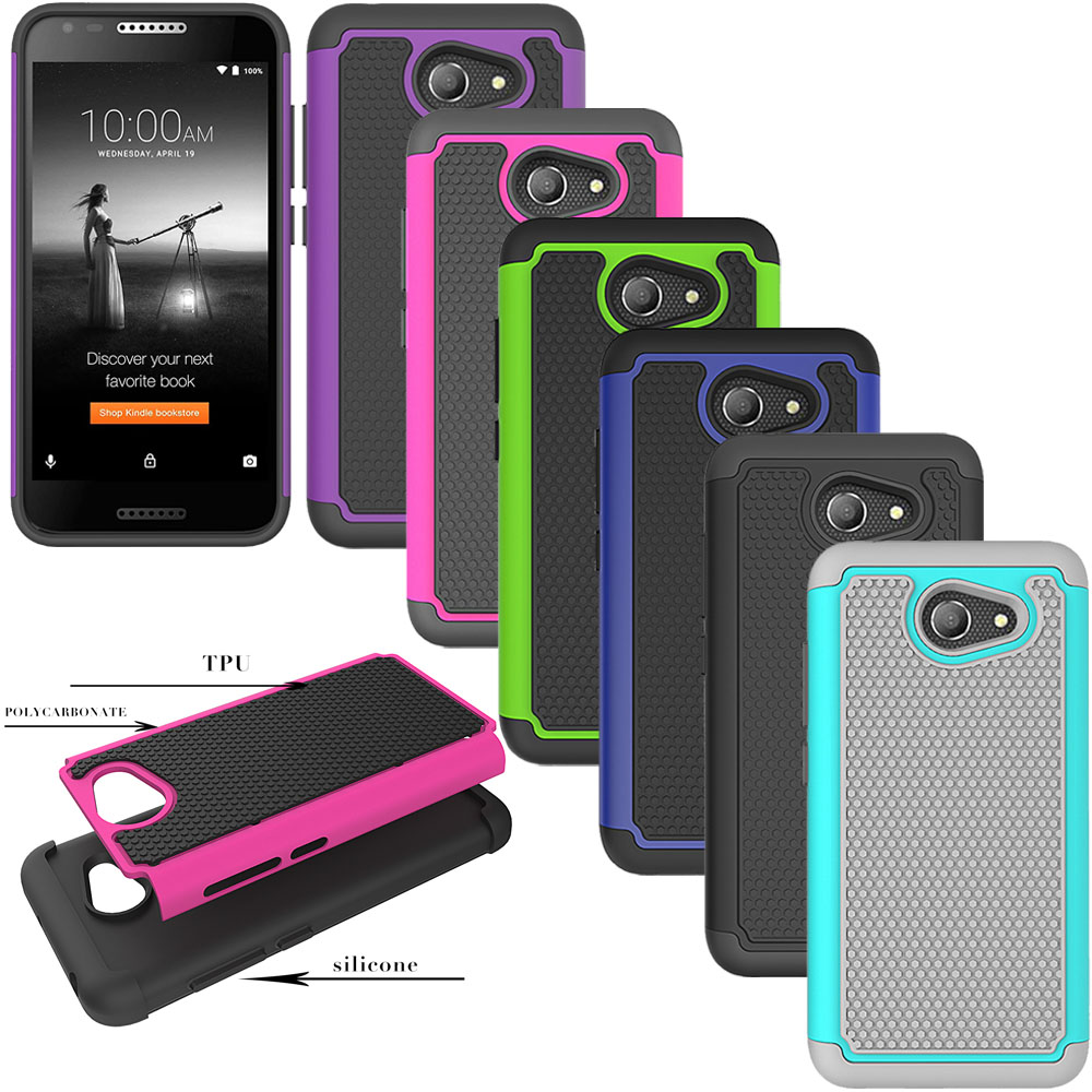 Dual Layer Hybrid Armor Case Soft Rubber & Hard PC Back
