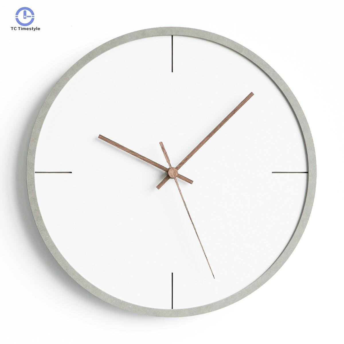 Horloge nordique créative mode horloges murales salon maison moderne minimaliste montres chambre personnalité muet suspendus montre-in Horloges murales from Maison & Animalerie    1