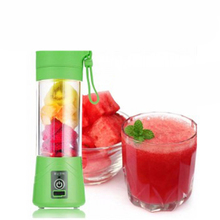 Green Pink Blue Electric Fruit Juicer Machine Mini Portable USB Rechargeable Smoothie