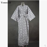Kimono Nightgown Women Gown 100% Cotton Woven Double Layer Gauze Long Design Bathrobe Long Kimono Robes