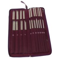 104Pcs Stainless Steel Circular Straight Knitting Needles Crochet Hook Weave Set With Bag V3NF