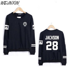 WEJNXIN Got7 Kpop Harajuku Hoodies And Sweatshirt Women Couple Clothes Hip Hop Letters Print Hoodie Sudaderas Mujer(China)