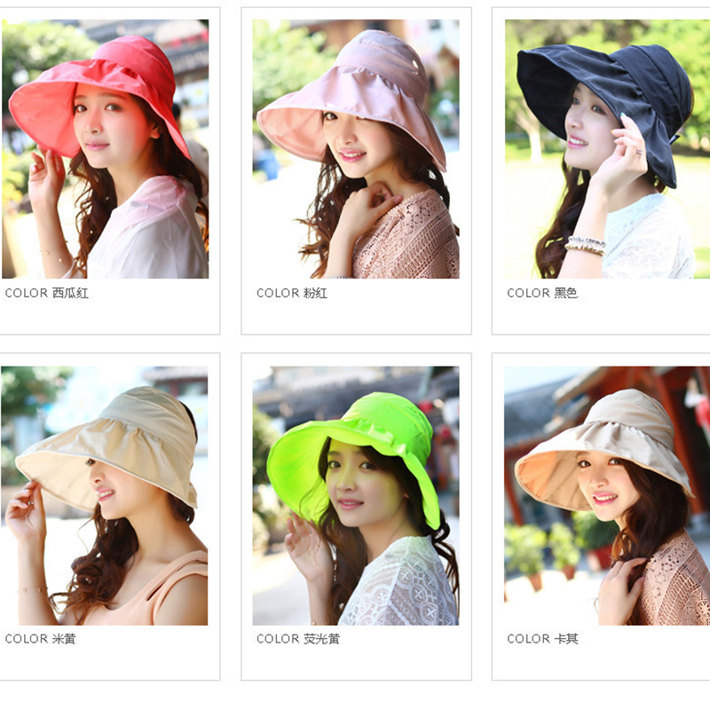 2fbff3b1a8173 2016 Fashion Summer Women Wide Brim Foldable Waterproof Beach Sun Hat  Chapeu Femininofloppy hat beach hats chapeaux pour hommes-in Sun Hats from  Apparel ...