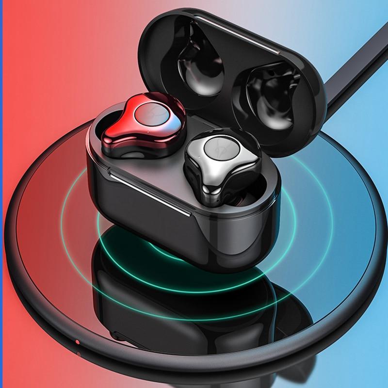 Auricolari Bluetooth TWS Senza Fili di Bluetooth V5.0 Auricolari Impermeabili di Sport 3D Suono Stereo del Trasduttore Auricolare Senza Fili di Ricarica
