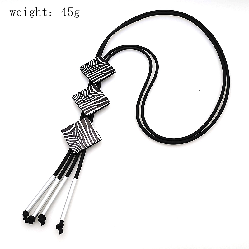 Купить с кэшбэком YD&YDBZ 3 Styles Hand Rubber Leather Long Necklace Sweater Chains Necklace Women Neck Jewelry Handmade Boho Pendant Choker Gifts