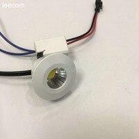 10pcs/lot diameter 40mm LED Mini Downlight Under Cabinet Spot Light 3W for Ceiling Recessed Lamp DC12V Down lights free shipping