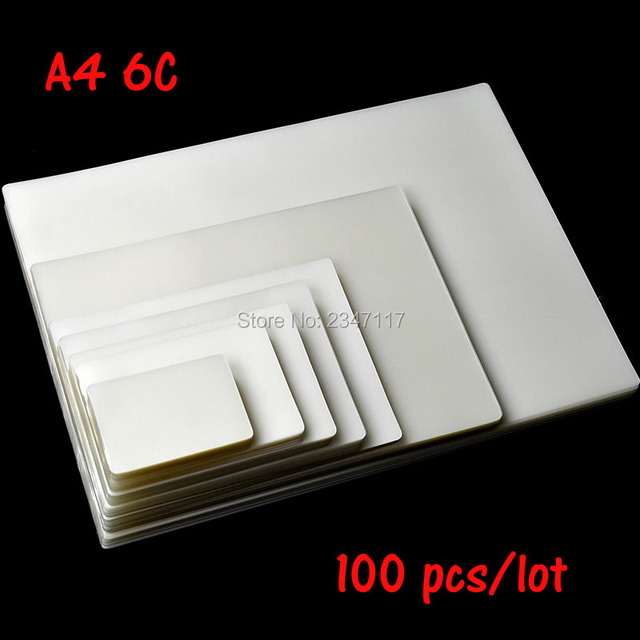 Laminating Film 6C Apply to Photo Paper size A4 100 Sheets/Lot