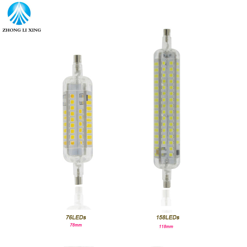 Dimmable led r7s light bulb 12w 30w 78mm 118mm silicone for Lampada led r7s 118mm