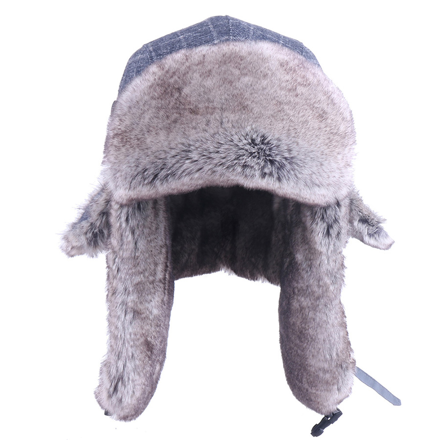 Winter Hats Men's Bomber Hat Russian Ushanka Faux Rabbit Earflaps Trapper Cap Thermal Plush Pilot Aviator Trooper Snow Ski Caps(China)