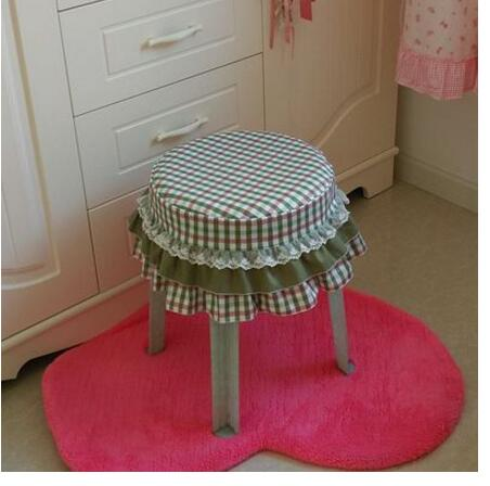 Cotton plaid fabric padded cotton cushion pad cushion stool cushion stool chair cover st ...