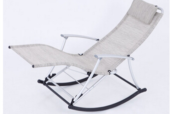 Rocking chair, leisure chair, the balcony folding rocking chair. Leisure chair. the silver chair