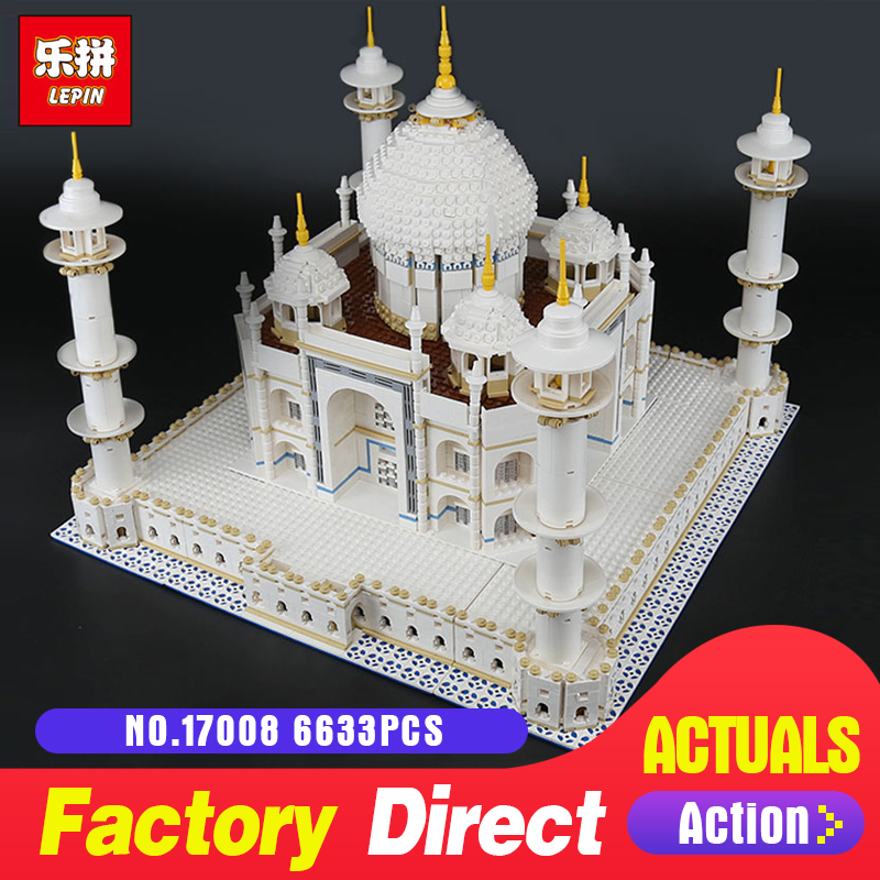 6633PCS LEPIN 17008 17001 The Tai Mahal Model Building Kits Brick Toys LegoINGlys 10189 Educational toy for Children DIY Gifts серебряный подвес ювелирное изделие 68609