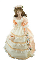 Cosette Spinning Music Box Home Collection Wedding Dress Porcelain Bridal Doll For Gifts Or Decoration 20