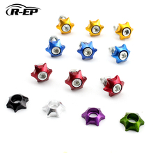 R-EP Universal Aluminum License Plate Bolts Screws with Gasket for Car Motorcycle 20pcs/Pack