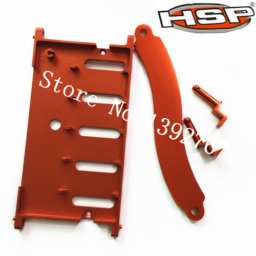 RC HSP Upgrade Parts 180012 Battery Holder W/Covers(Al.) For 1/10 Scale Models Power Remote Control Car Crawler Truck PANGOLIN hsp rc car upgrade parts accessories 04001 03601 metallic chassis hsp 1 10 scale models 94111 of road remote control rc car part