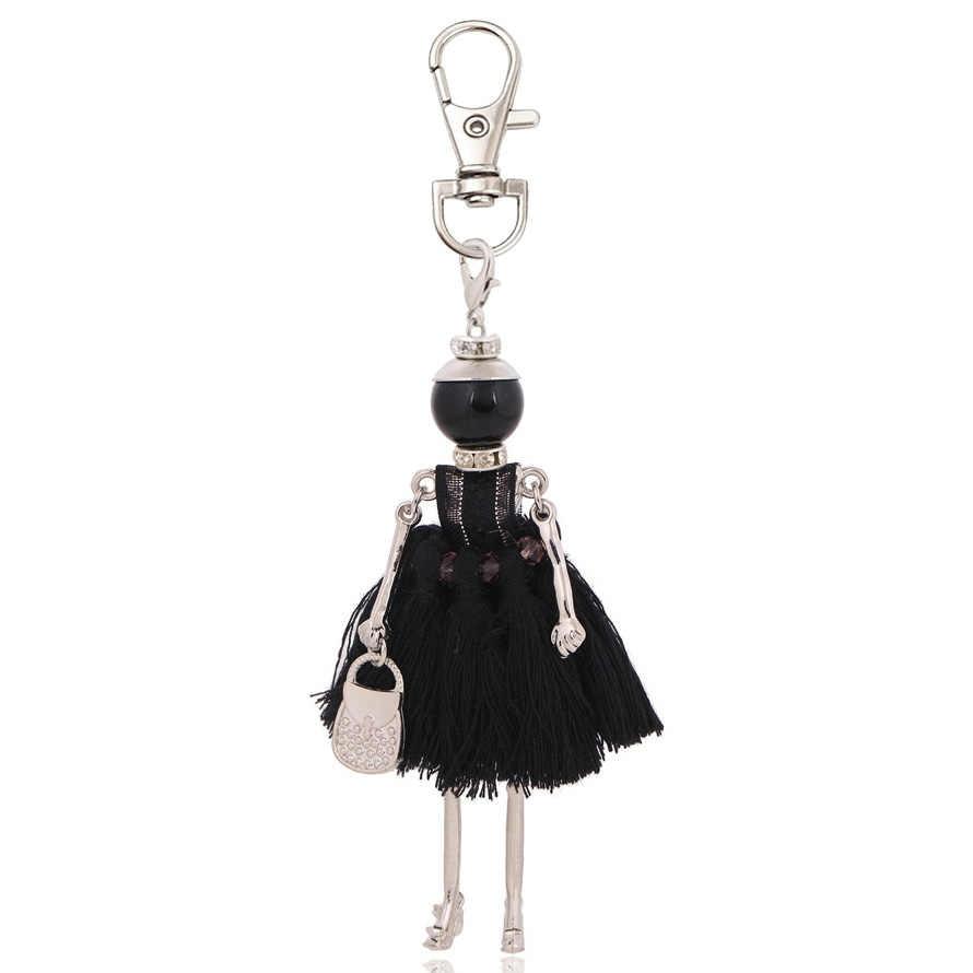 Nova moda chaveiro para as mulheres charme chaveiro saco pingente chaveiro titular jóias artesanal menina presentes jóias 2019