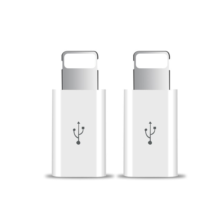 2PCS Micro USB Female to <font><b>8</b></font>-Pin Male Connector <font><b>Adapter</b></font> For <font><b>iPhone</b></font> X XS Max XR 5 5S 6 6S 7 <font><b>8</b></font> Plus Phone Charging Cable Converter image