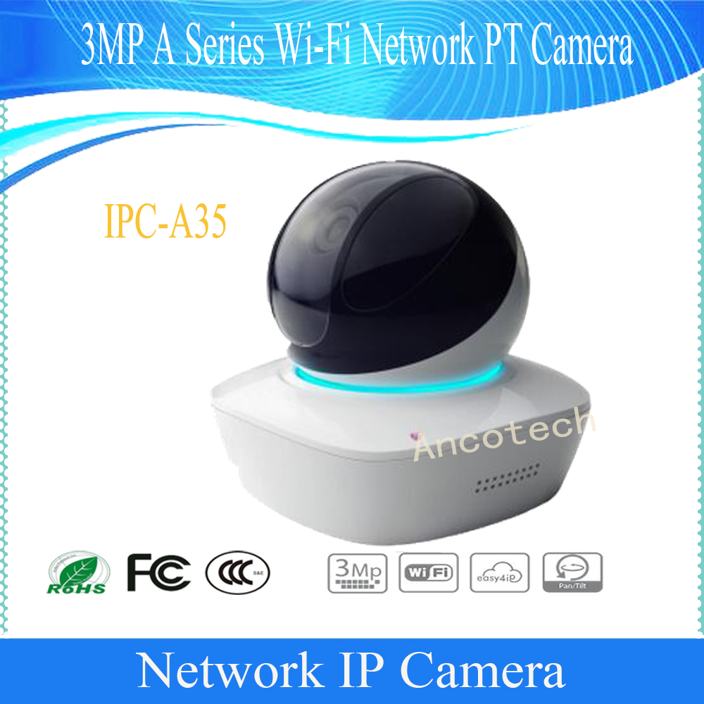Free Shipping DAHUA WIFI Camera 3MP A Series Wi-Fi Network PT Camera H.264& MJPEG without Logo IPC-A35 wifi ipc 720p 1280 720p household camera onvif with allbrand camera free shipping