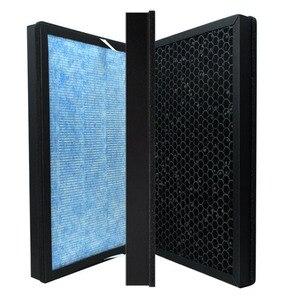 Image 2 - Filtre à charbon actif pour purificateur dair TCL TKJ 220F/240F/248F, filtre HEPA composite spécial en fibre de coco PM 2.5