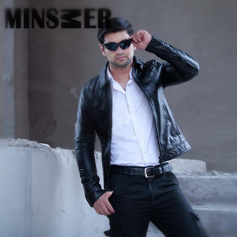 New 2017 Autumn Casual Leather Jacket Men High Quality loose fashion jaqueta de couro masculina male clothing M-XL