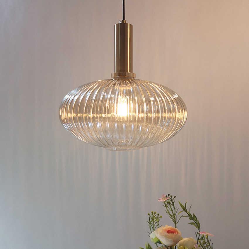 Скандинавский Ресторан подвесные светильники серый/зеленый/стеклянный для коньяка Современная Подвесная лампа спальня гостиная кухня подвесной светильник