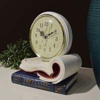 High Quality Europe classical table clock creative mute Fun Book Desktop Table Children Bedside desk clock home decoration