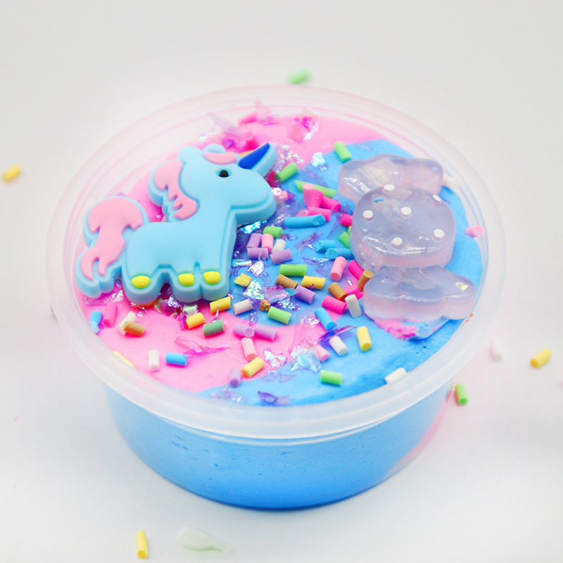 Colorful Unicorn Stars Slime Candy Crystal Mud Unicorn Pearl Ball Clay DIY Antistress Toy Slime Putty Children 39 s Lizun Toy Gift in Modeling Clay from Toys amp Hobbies