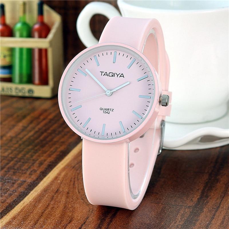 Designer Luxury Brand TAQIYA Silicone Female Watch Women Simple Quartz Ladies Watch Suitable For 4-16 Years Old Gift Clock Time