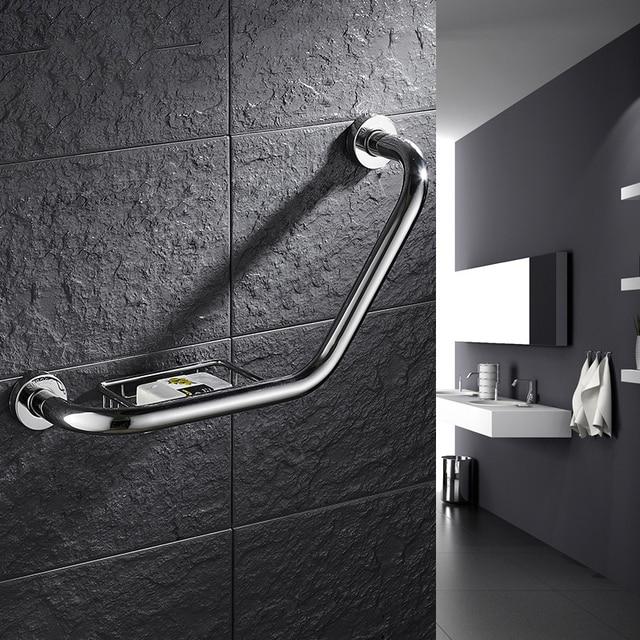 Do montażu na ścianie ze stali nierdzewnej poręcze wanna do łazienki poręczy z mydelniczka niepełnosprawność pomocy pomoc w zakresie bezpieczeństwa