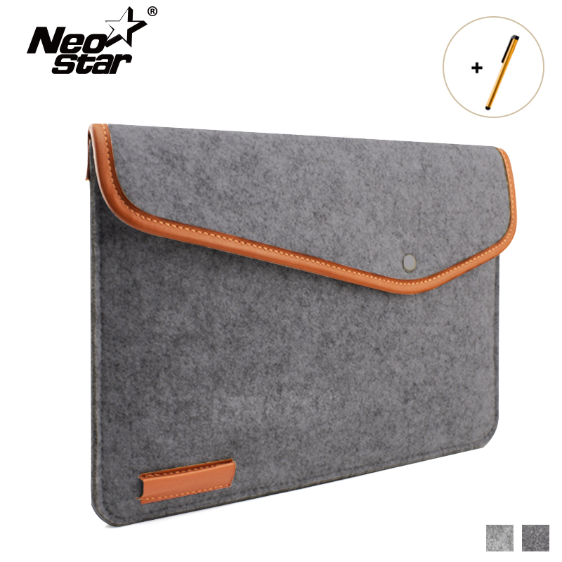 2018 New Laptop Bag Case For Macbook Air 13 11 15 Woolen Felt Notebook Bag For Laptop Sleeve Girl Friend Gift for Free Shiping