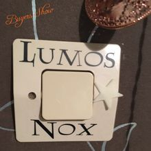 3 Pcs/Set  Lumos Nox Light Switch Sticker , Creative Switch Sticker Vinyl Harry Potter free shipping