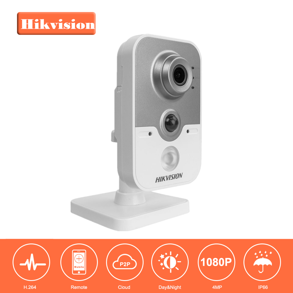 In Stock HD Wireless IP Camera 1080P DS-2CD2442FWD-IW 4MP IR Cube Network WiFi Camera Android Support Replace DS-2CD2432F-IW free shipping ds 2cd2442fwd iw english version 4mp ir cube network cctv security camera mini wifi ip camera poe 10m ir