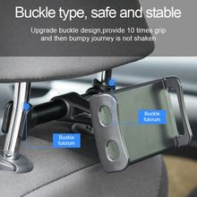 Car Back Seat Phone Holder 360 Degree Rotate Stand Auto Head